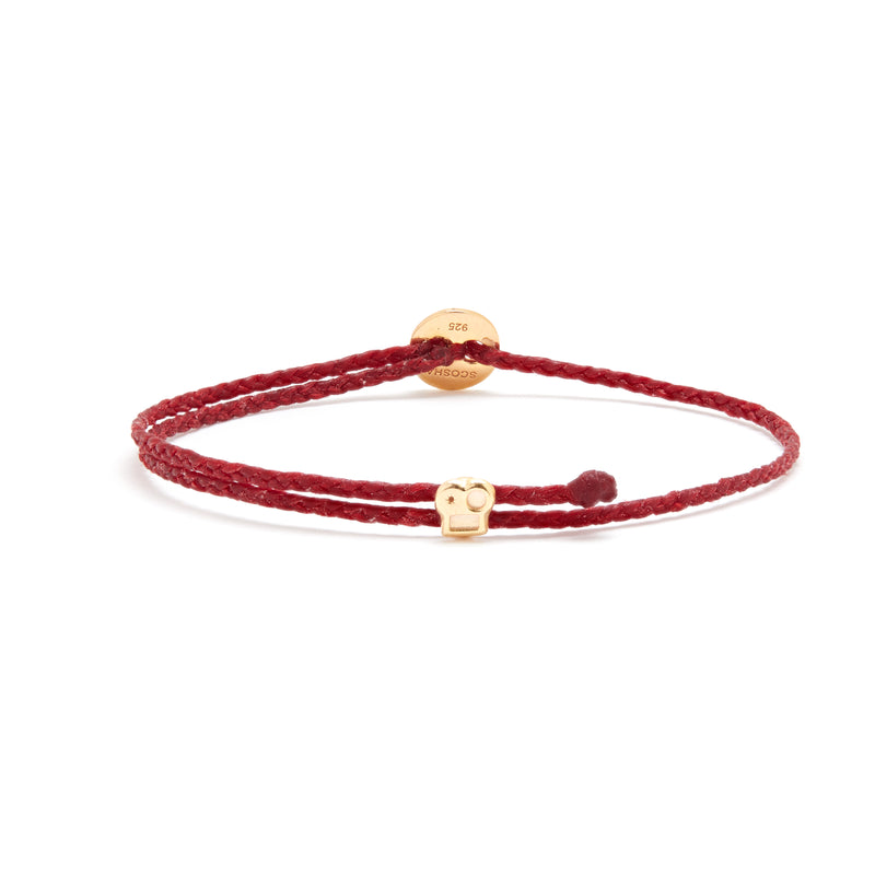 Signature Bracelet with Brian Slider in Red