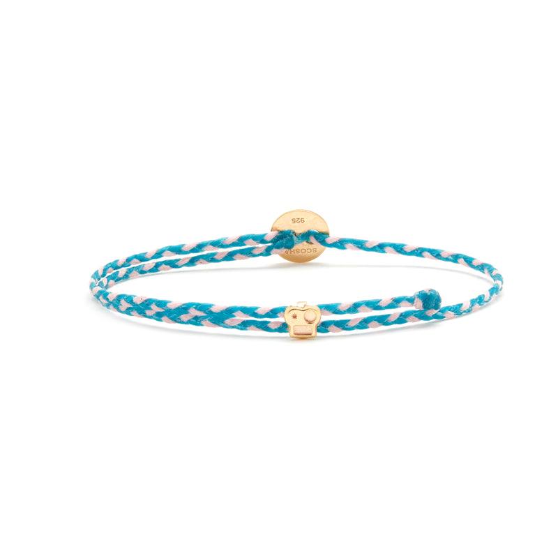 Signature Bracelet with Brian Slider in Turquoise/Light Pink Blend