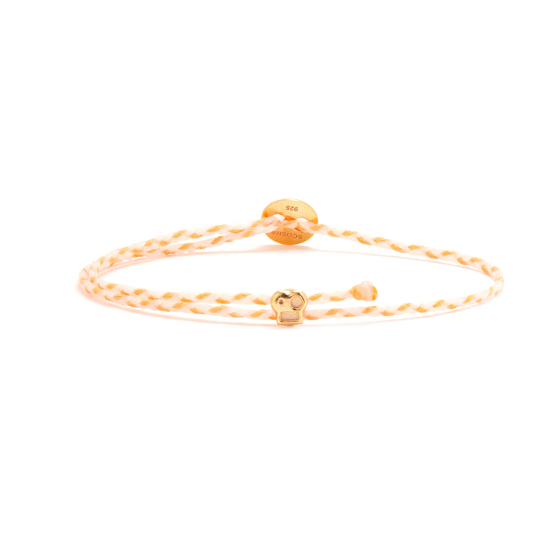 Signature Bracelet with Brian Slider in White/Neon Peach Blend