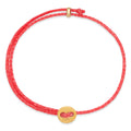 Signature 2MM Bracelet, Polished Brass in Hot Pink