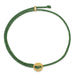 Signature 2MM Bracelet, Polished Brass in Kelly Green