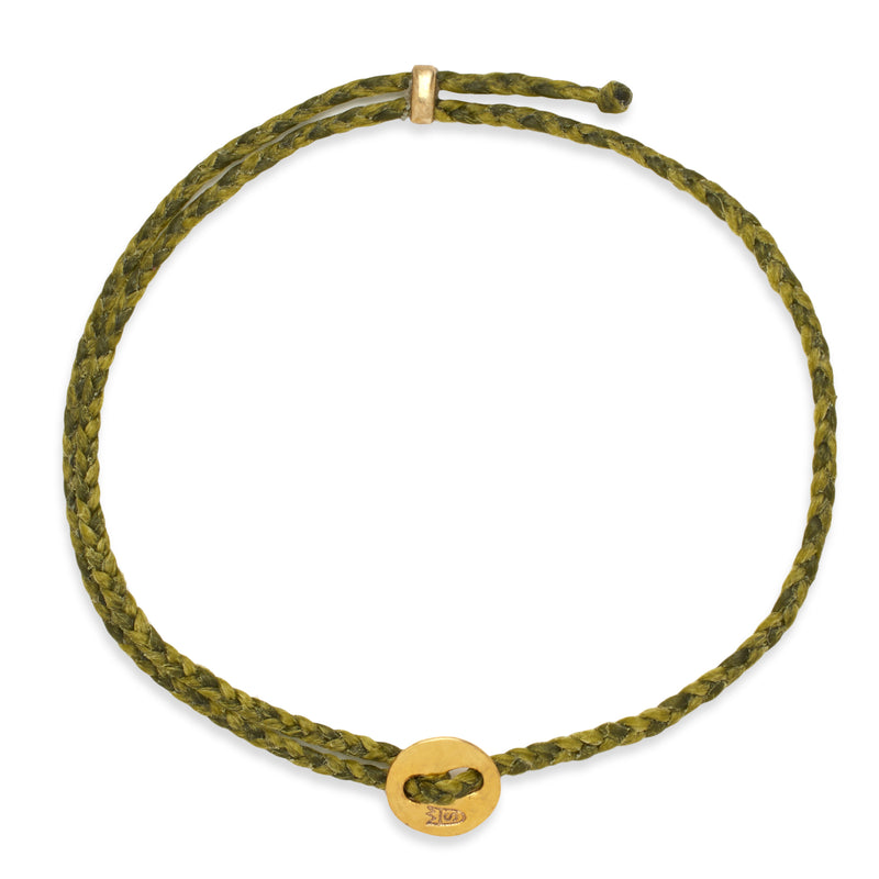 Signature 2MM Bracelet, Polished Brass in Olive