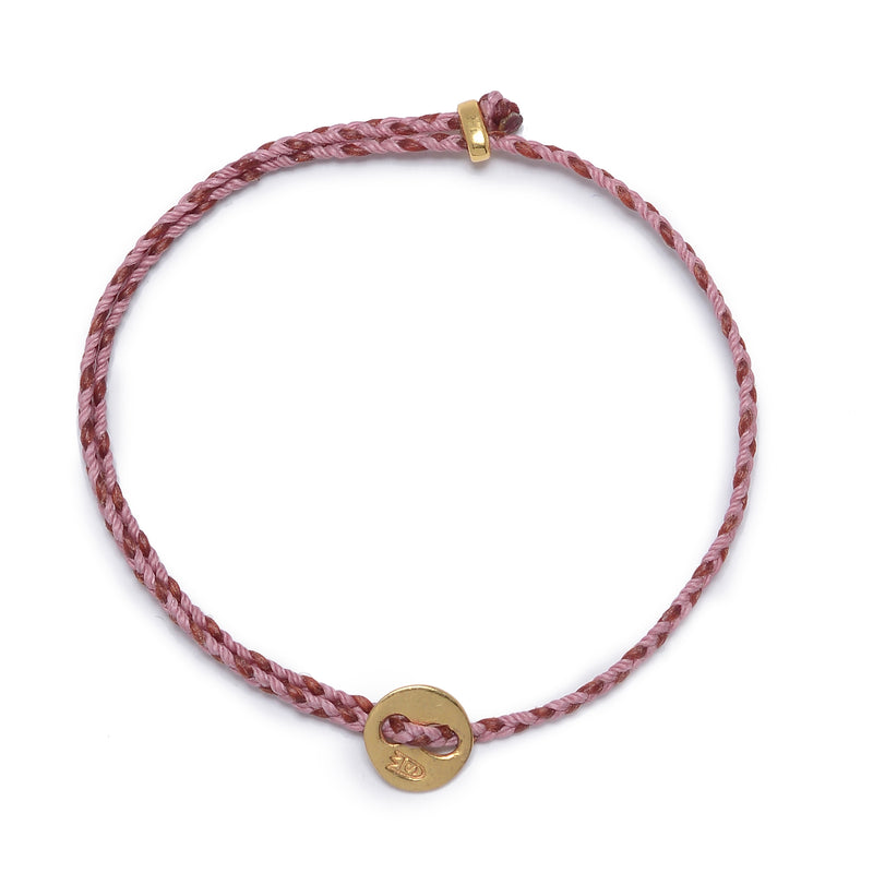Signature 2mm Bracelet, Polished Brass in Rose and Red