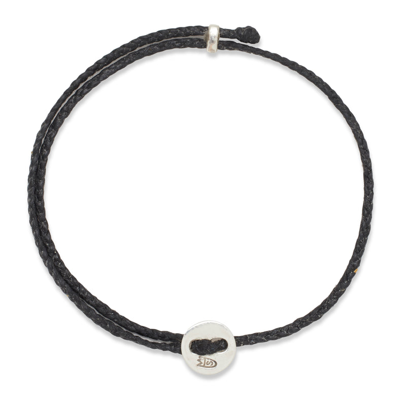 Signature 2MM Bracelet, Silver in Black