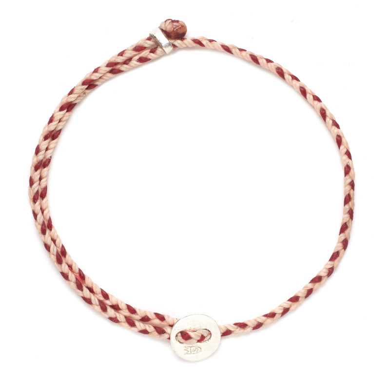 Signature 2MM Bracelet, Silver in Ballet Pink & Red