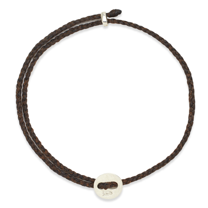 Signature 2MM Bracelet, Silver in Chocolate