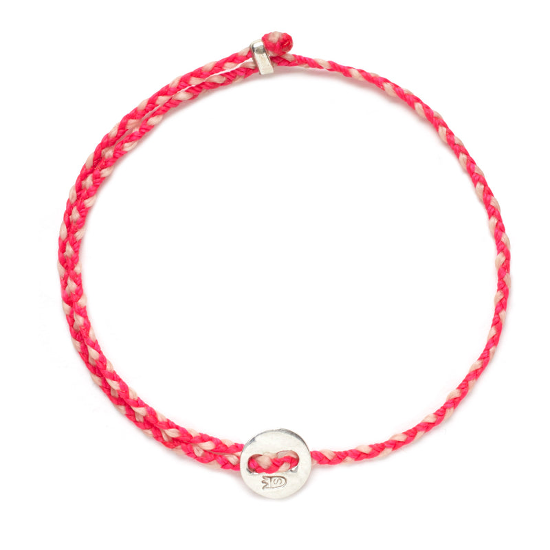 Signature 2MM Bracelet, Silver in Fuchsia & Ballet Pink