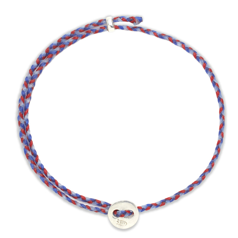 Signature 2MM Bracelet, Silver in Royal Blue, Scarlet, and Sky