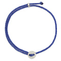 Signature 2MM Bracelet, Silver in Royal Blue