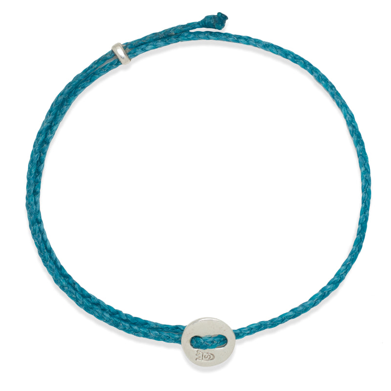 Signature 2MM Bracelet, Silver in Turquoise