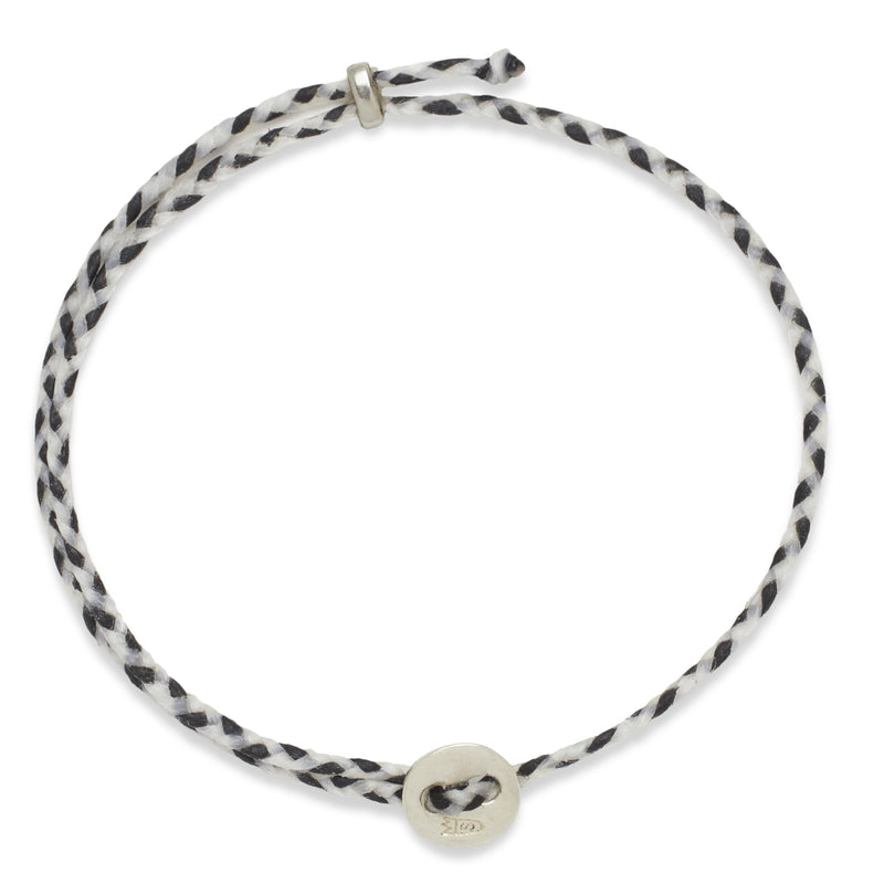 Signature 2MM Bracelet, Silver in White & Black