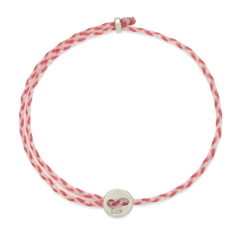Signature 2MM Bracelet, Silver in White & Hot Pink