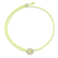 Signature 2MM Bracelet, Silver in White & Neon Yellow