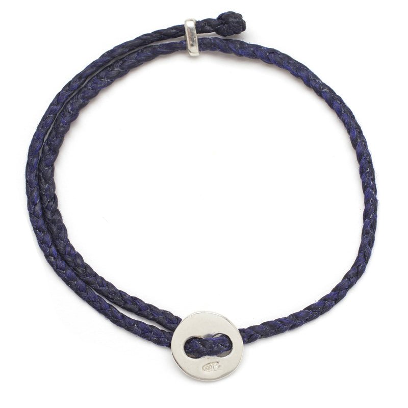 Signature 4mm Bracelet, Silver in Indigo