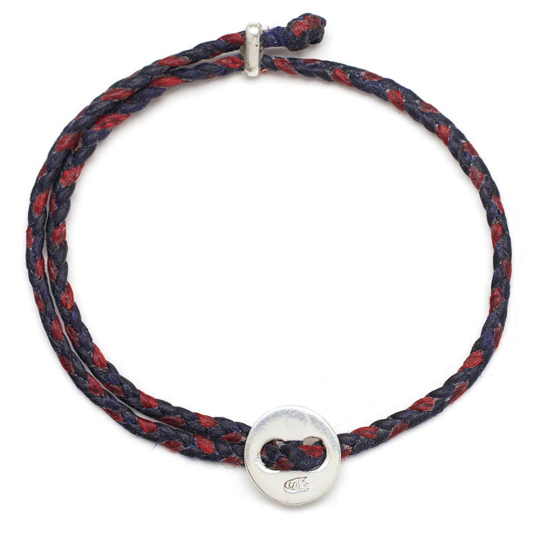 Friendship Braid in Indigo and Red