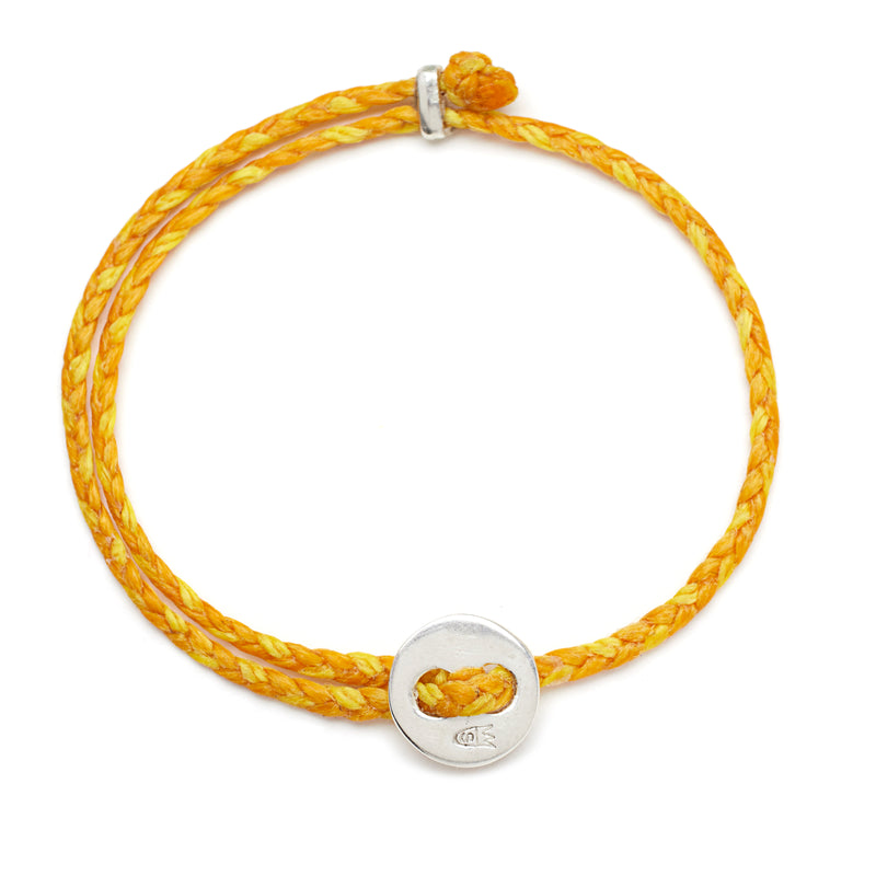 Signature 4mm Bracelet, Silver in Mimosa and Yellow