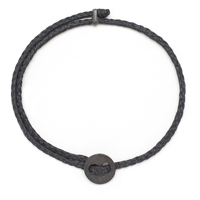 Signature 4mm Bracelet, Oxidized Silver in Black
