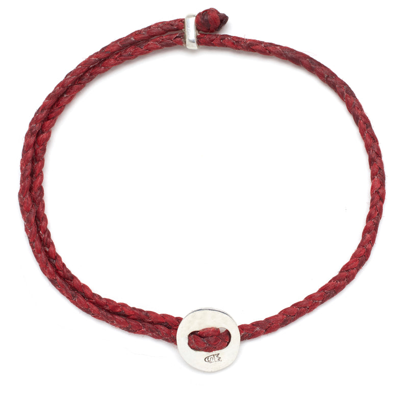 Signature 4mm Bracelet, Silver in Red