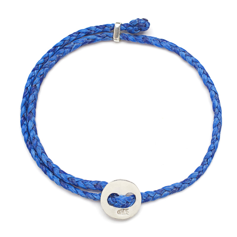 Signature 4mm Bracelet, Silver in Royal Blue