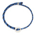 Signature 4mm Bracelet, Silver in Royal Blue and Black