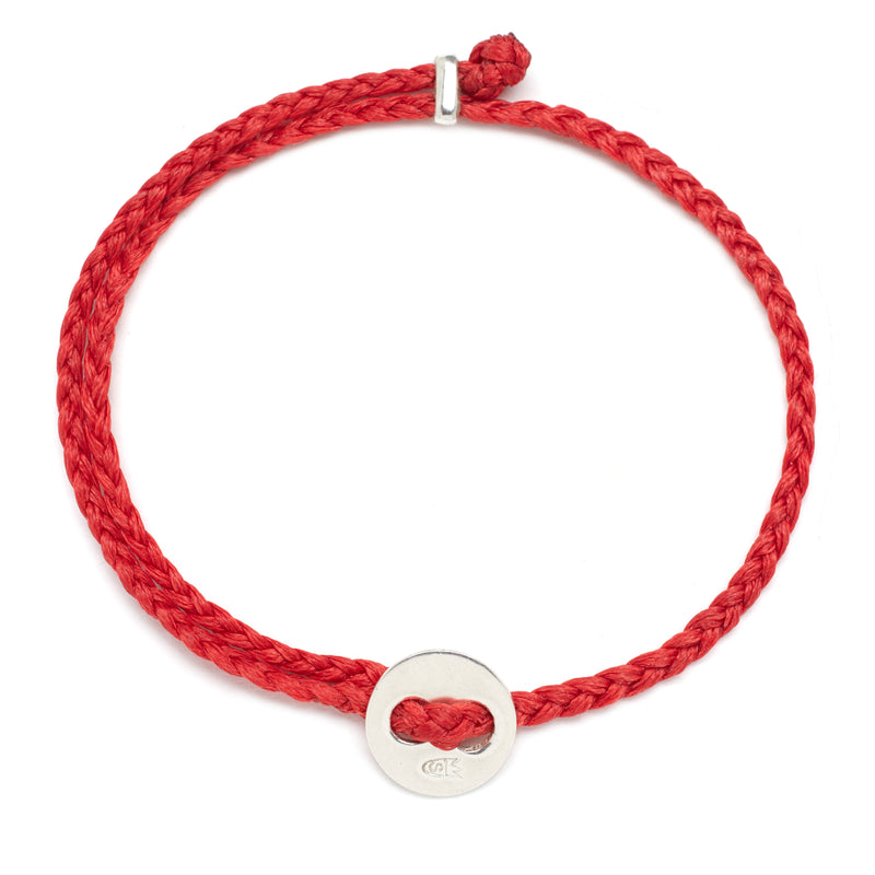 Signature 4mm Bracelet, Silver in Scarlet