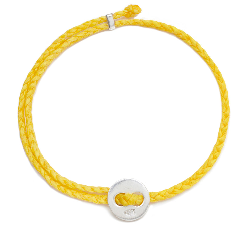 Signature 4mm Bracelet, Silver in Yellow