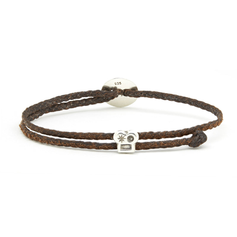 Adjustable Brian Signature Bracelet in Chocolate