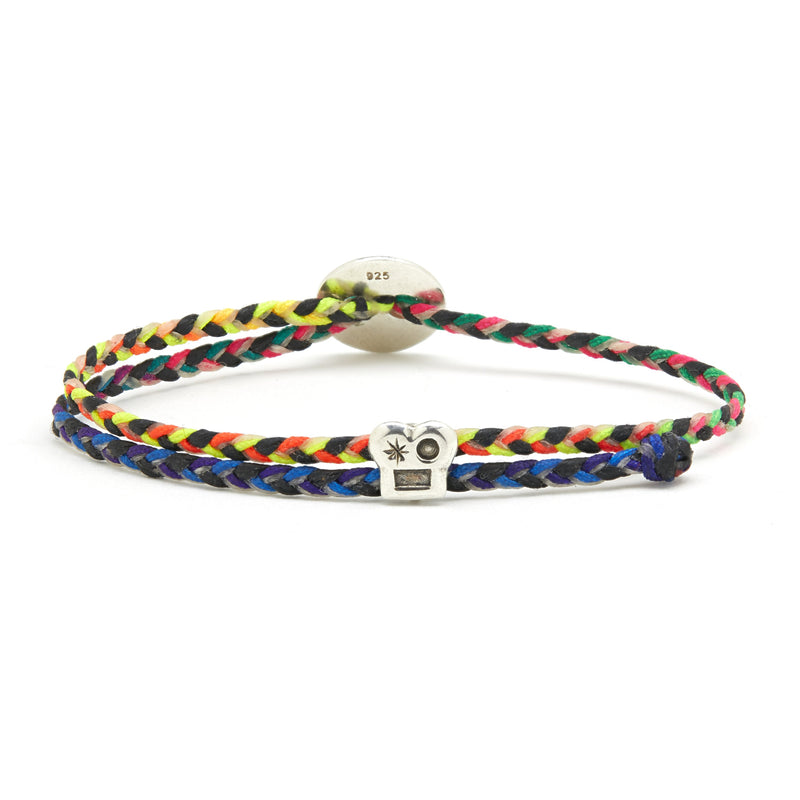 *Limited Edition* Adjustable Brian Signature Bracelet in Rainbow/Black Blend