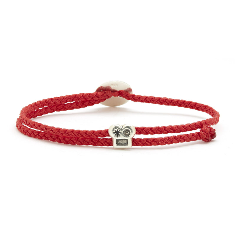 Adjustable Brian Signature Bracelet in Fire Red