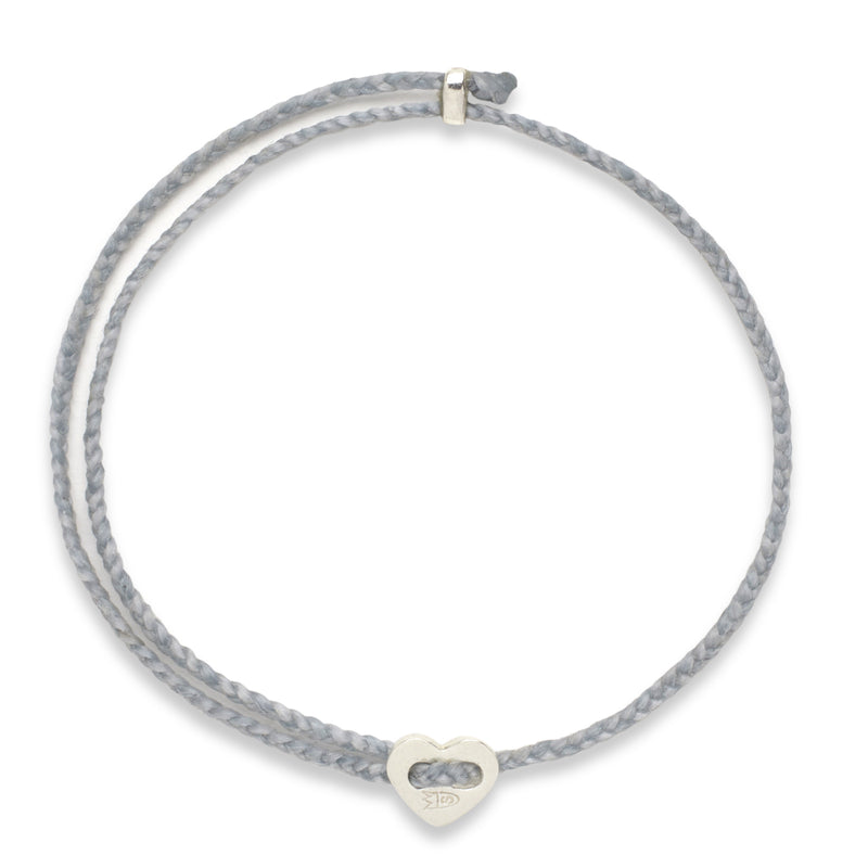 Signature 2MM Heart Slider Bracelet, Silver in Aquaspray