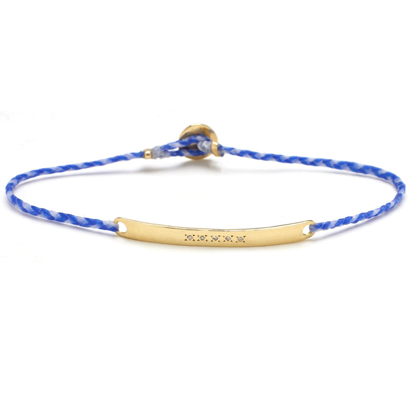 Signature ID Bracelet with Diamonds in Royal Blue and White