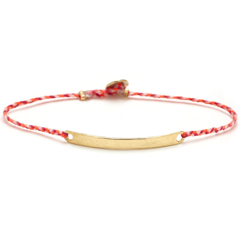 Signature ID Bracelet with Gold in Neon Pink, Warm, Pink, and White