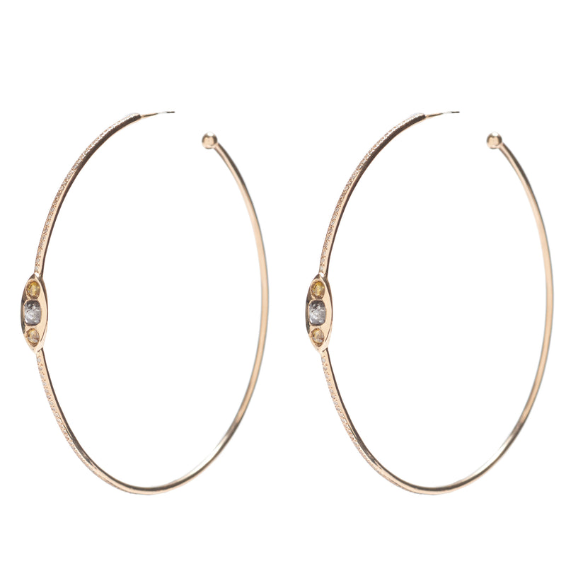 FWE22 - fine bezel diamond hoops