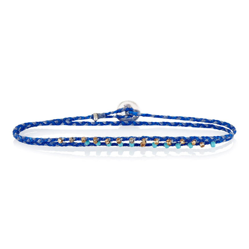 Dual Bracelet in Royal Blue/White