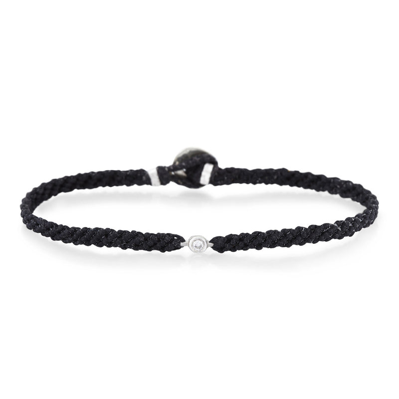 Classic Diamond Bracelet in Black & Silver