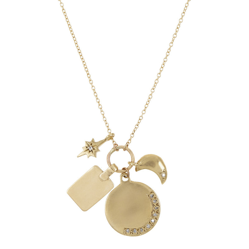 Charms Necklace in Gold