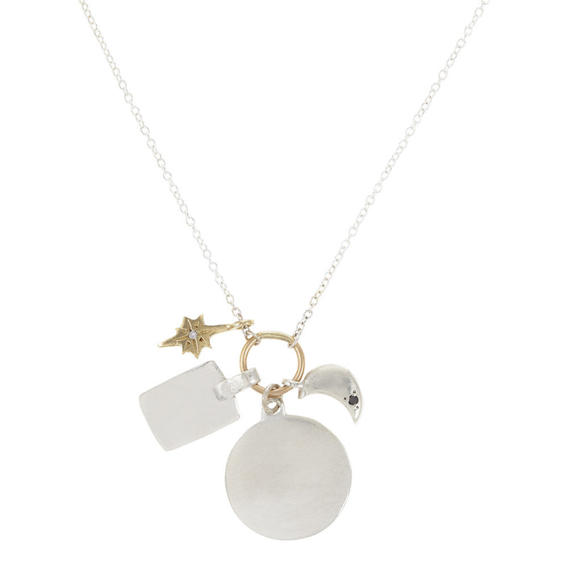 Scosha charms necklace in silver gold classic charms necklace in silver mozeypictures Images