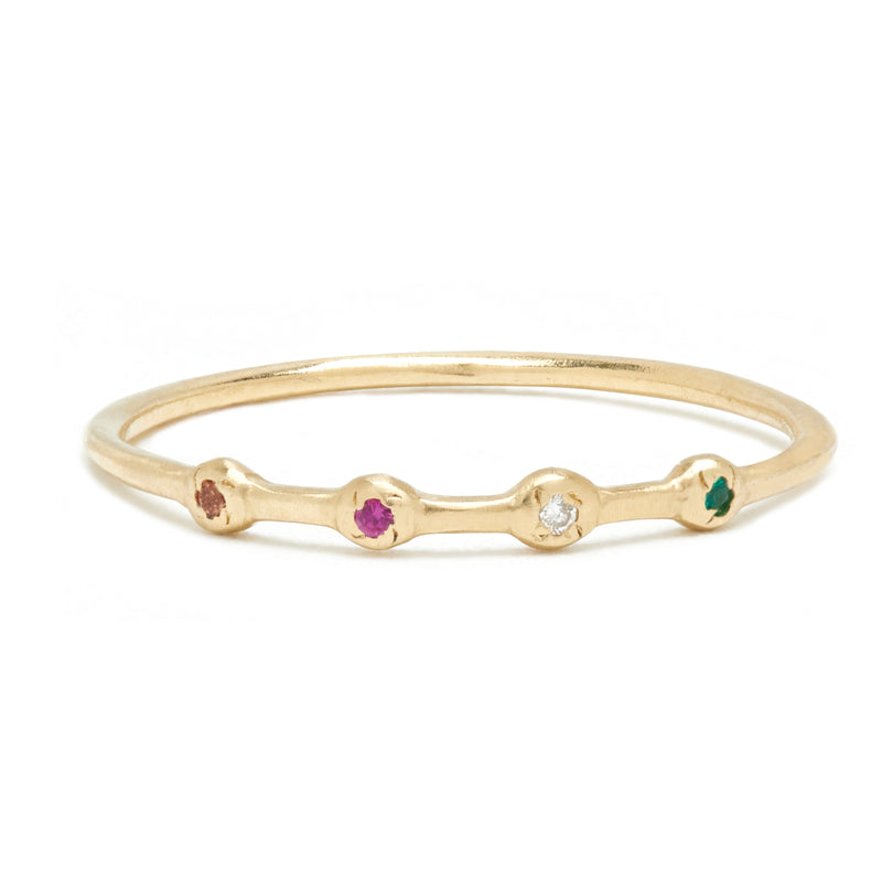 Quattro Ring in Gold with Mixed Stones