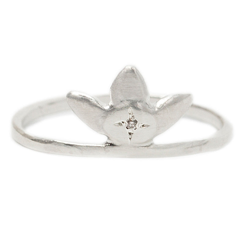 FORGET-ME-NOT RING IN STERLING SILVER
