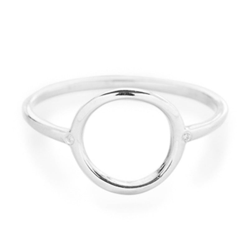 Halo Ring in Silver