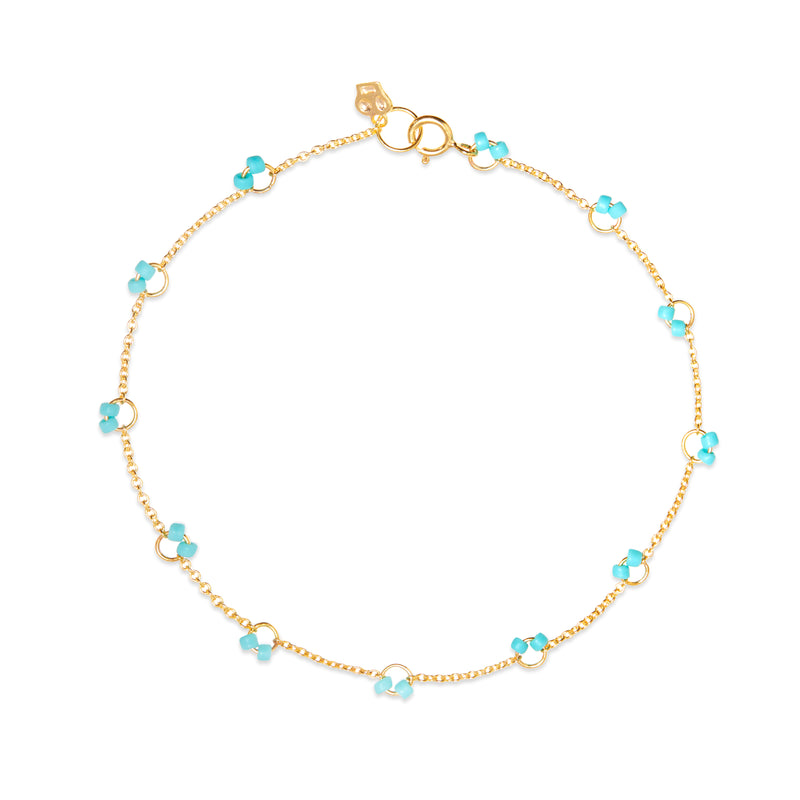 Cha-Cha Anklet in Turquoise