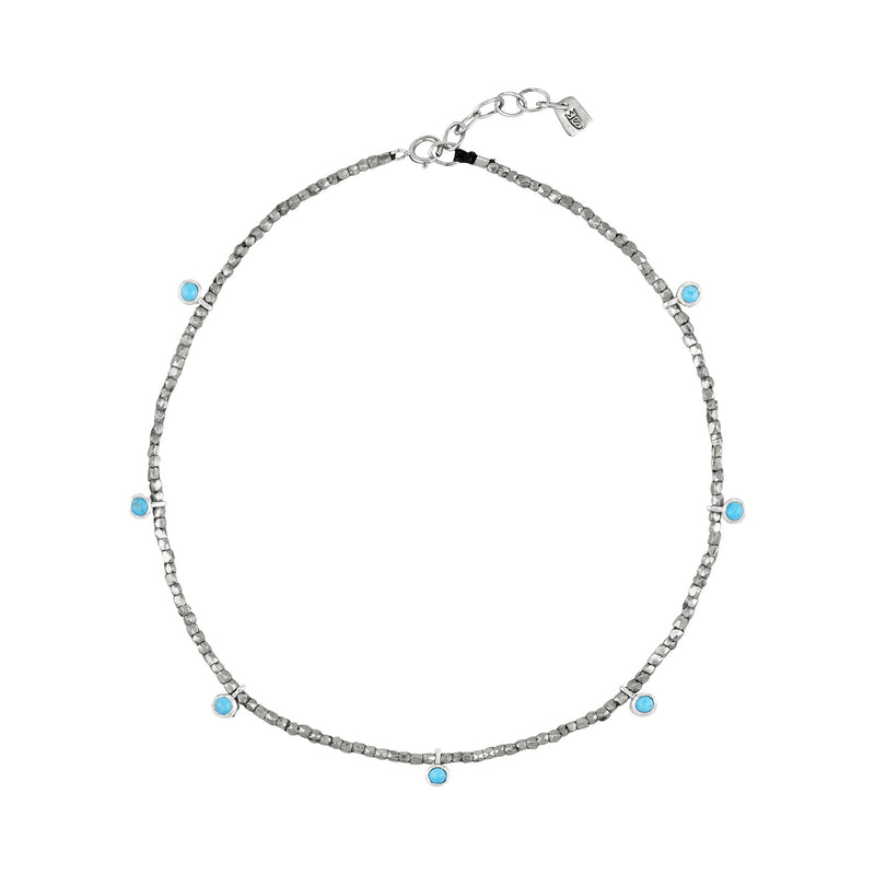 Trinket Anklet in Silver