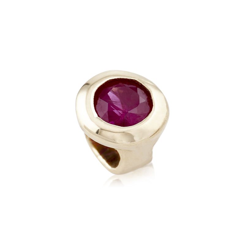10k Gold Ruby Candy Bead