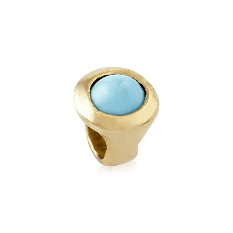 Brass Turquoise Candy Bead