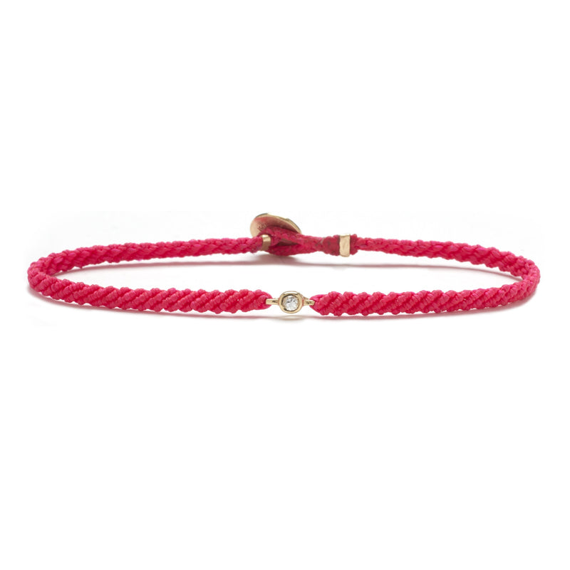 Classic Diamond Bracelet in Fuchsia