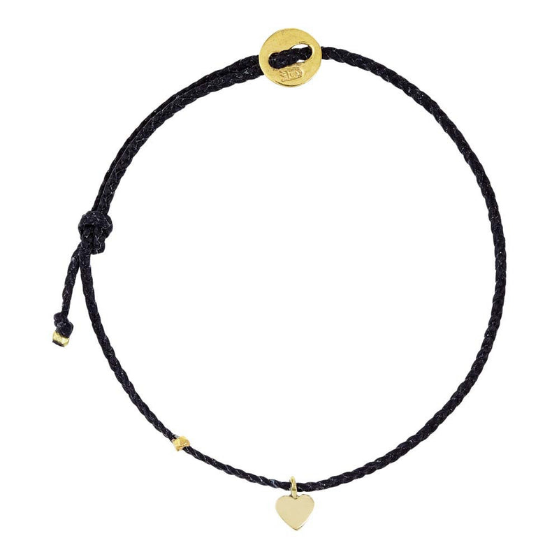 Signature Heart in 10k Gold and Black