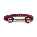 DOUBLE BALL BAR WITH ROPE CUFF IN CHERRY BLOSSOM