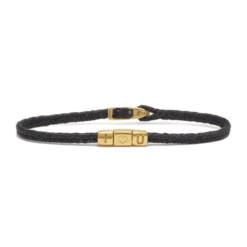 TOTEM I ♡ U BRACELET IN BLACK AND BRASS