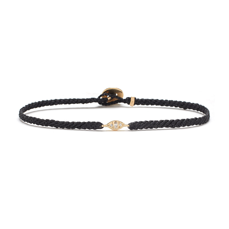 Cat Eye Bracelet in Gold with Diamonds