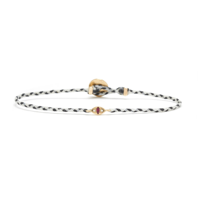 Cat Eye Signature Bracelet with Ruby